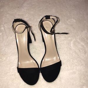 Shoes - Dream Paris Black Velvet Strappy Heels